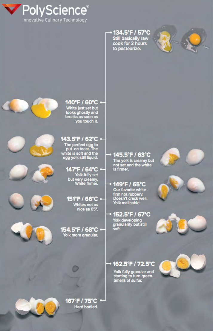 PolyScience Egg Chart